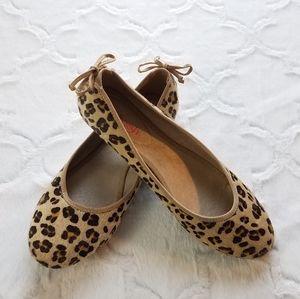 《Refresh》 Leopard print faux fur flats
